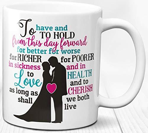 Hochzeit Kaffeebecher 330 ml Ehe Zitat romantische Geschenk Keramik Teetasse