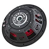 Massive Audio UFO12, 12 Inch Shallow Subwoofer - High Powered 600 Watt Shallow Mount Subwoofer, (3 Inch Voice Coil Dual...