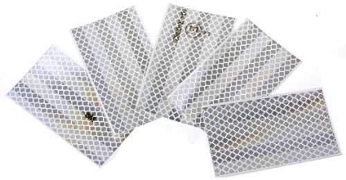 WAMO 5x Warnfolie Folie 3M Scotchlite Reflexfolien 55 x 159 mm silber / weiß