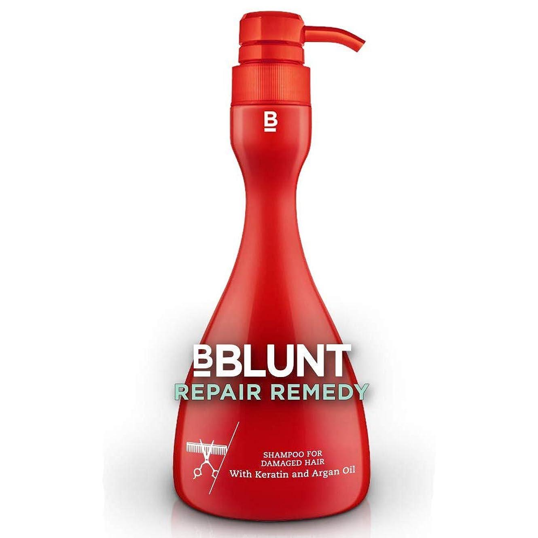 怒り放送雨BBLUNT Repair Remedy Shampoo for Damaged Hair, 400ml Pump Bottle (Keratin and Argan Oil)