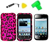 Phone Cover Case Cell Phone Accessory + Extreme Band + Stylus Pen + LCD Screen Protector + Yellow Pry Tool For Huawei Glory H868C / Huawei Inspira H867G / Huawei T-Mobile Prism 2 U8686 (Pink Leopard)