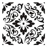 Allowevt Conjunto De Plantillas De Plantilla Mandala De 6 Piezas Plantillas De Pintura Huecas Reutilizables Pegatinas De Pared DIY Scrapbook Art Scrapbook para Pintar sobre Madera Roca Tela Y Fashion
