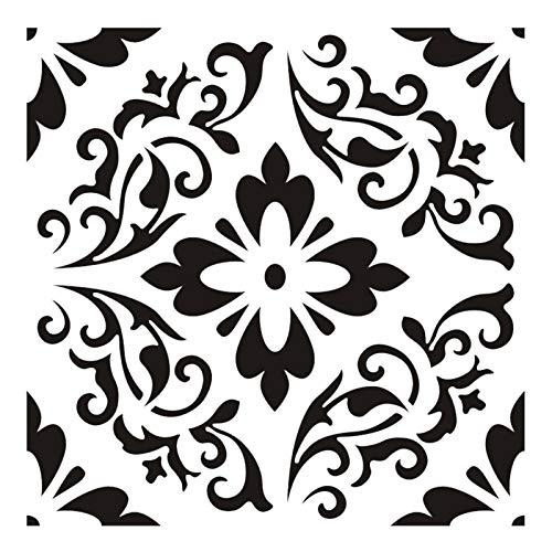 DRXX Plantilla de Pintura a Cielo Abierto, Mandala 30 30 cm Pintura de Pared Muebles de Piso Decoración Plantilla de Pintura para DIY Pintura Art Scrapbook