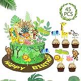 SPECOOL Animales Cupcake Toppers Decoración Tarta de Niños Fiesta de Cumpleaños Fiesta Selva Temática Animal Park para Niños Cumpleaños Animal Decoraciones de la Torta Fuentes del Partido