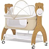 Dream On Me Cub Portable Bassinet | Rocking Cradle | Best for Small Living Space | Compact Portable Bassinet, Beige