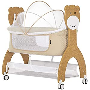 Dream On Me Cub Portable Bassinet in Beige Crib