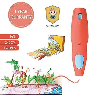 Weistek 3D Doodler Pen, Wireless 3D Drawing Pen with 120pcs PCL Filament, Low Temperture 3D Pen for Kids Safe
