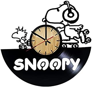ForLovedGifts Snoopy Happy Dance Design Vinyl Wall Clock – Handmade Gift for Any Occasion – Unique Birthday, Wedding, Anniversary, Wall décor Ideas for Any Space
