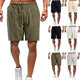Pantaloni Uomo Estivi Pantalone Leggero con Elastico in Vita Pantaloni Casual da Uomo in Lino Leggeri Elasticizzati Pantaloni da Jogging Tinta Unita
