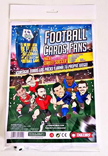 DLAZARO ¡Football Cards Fans Street Soccer! Vive el fútbol Callejero, Juego de Cartas, Compatible con los cromos del Juego, panini o adrenalyn Entre Otros