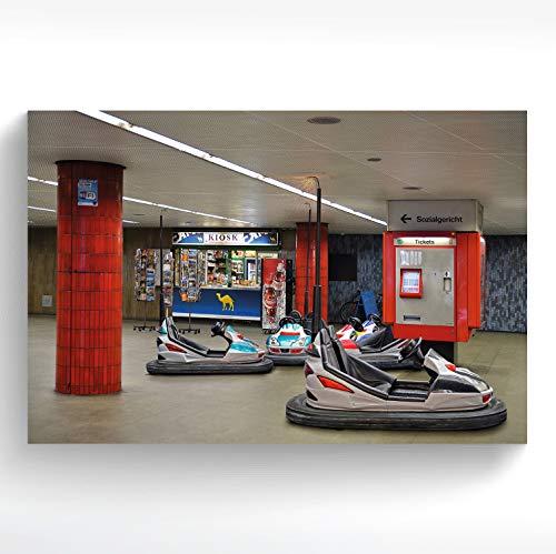 stadtecken® Poster KÖLN I Motief: metro Scooter I Kunstdruk I Decooposter I Wandafbeelding I Souvenir I Geschenk I Geschenkidee - met varianten 90x60 cm
