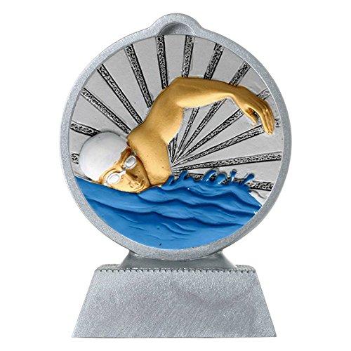 pokalspezialist Pokal mit 3D Motiv Schwimmen Schwimmsport Serie Ronny 10,5 cm hoch