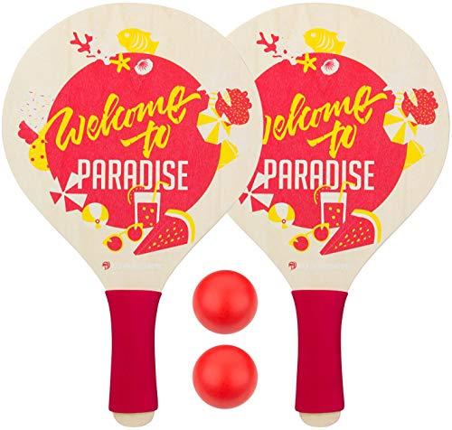 Waimea Beachball Set with foam grip Paradise Yellow / Pink / White, tamaño:OneSize