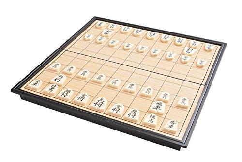 Quantum Abacus Azerus Línea Standard: Shogi ajedrez japonés, Set de Viaje con Tablero magnético, Art. 5614 / 3814