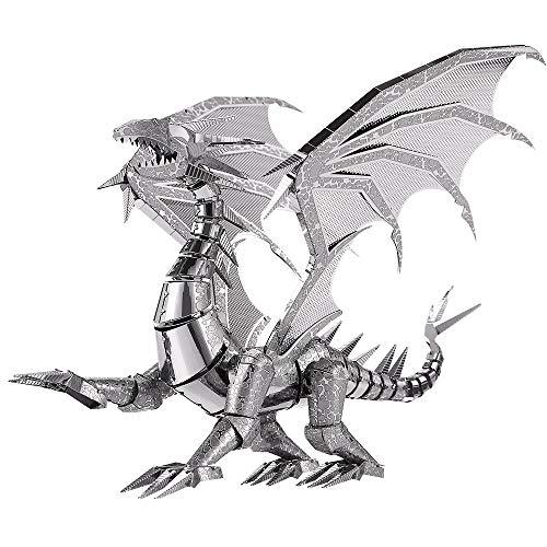 piececool Dragon Metal - Puzzle 3D fai da te, modello in metallo, per adulti, 115 pezzi