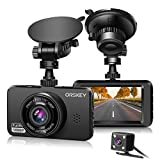 ORSKEY Dash Cam for Cars Front and Rear 1080P Full HD In Car