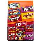 STARBURST, SKITTLES & LIFE SAVERS Gummies Halloween Candy Fun Size Variety Mix, 99.4-Ounce Bag, 315 Pieces