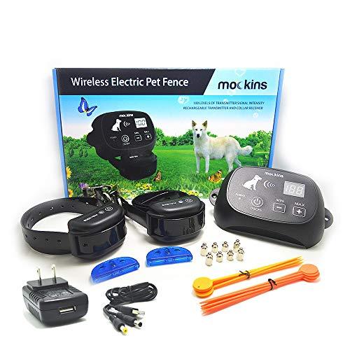 Mockins 2 Collar Wireless Pet Fence