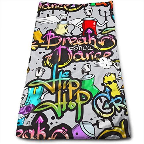 winterwang Toallas de baño Graffiti On The Street Toallas faciales Toallas Altamente absorbentes Toallas Multiusos para la Cara de Manos Gimnasio y SPA 12'X 27.5'