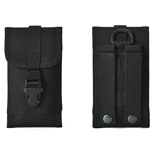 Housse de ceinture universelle pour Leagoo M9 Pro/Power 5/S9/XRover/KIICAA MIX/M7/M8 Pro/T5c/Shark 5000/S8 Sports de plein air Sac banane camouflage armée boucle de ceinture (ACU)