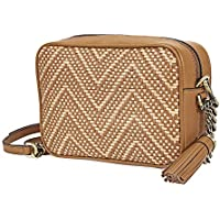 Michael Kors Medium Camera Bag Crossbody Truffle Leather Woven
