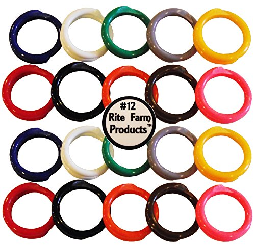 Rite Farm Products 20 Multi Colored #12 Leg Bands 3/4' Chicken Poultry Chick Quail Pigeon Duck Goose