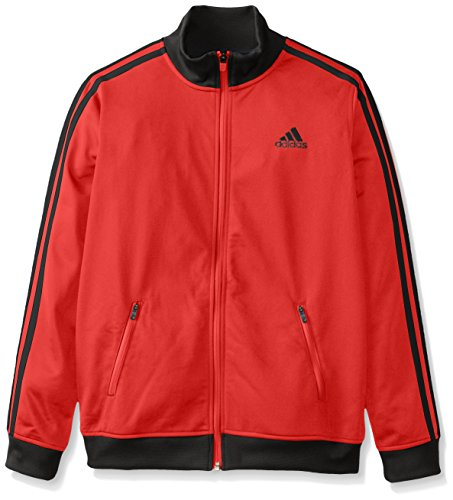 adidas Big Boys' Separates Training Track Jacket, Light Scarlet/Black, X-Large/18