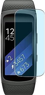 Vaxson 3-pack anti-blått ljus skärmskydd, kompatibel med Samsung Gear Fit 2 smartwatch smartklocka, TPU skydd filmskydd kl...