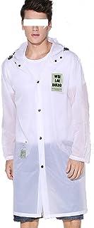 ZEMIN ポンチョ レインウェア レインコート ポンチョ ウインドブレーカー 防水 カバー ユニセックス ファッション トランスペアレント 肌に優しい ポリエステル、 S、 白 (色 : 白, サイズ さいず : S s)