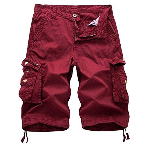 Bellelove Herren Shorts Sommer Cargo Chino Bermuda Vintage Kurz Hose mit Taschen