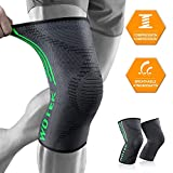 Knee Support, 2 Pack Knee Brace for Men and Women Breathable Compression Knee Sleeve for Running, Crossfit,...