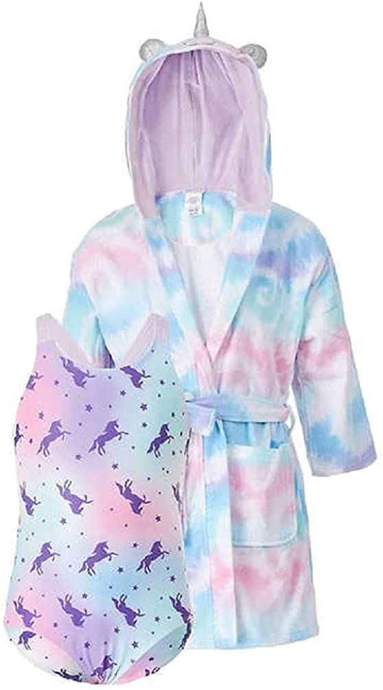 Saint Eve Youth Beach Cover Up and Swimsuit Set, Unicorn