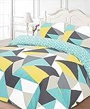 Dreamscene–Funky forme Set di biancheria da letto, doppio, multicolore