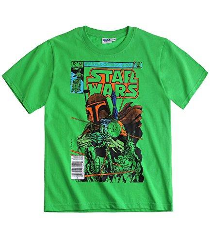 Star Wars-The Clone Wars - Camiseta de manga corta, color verde verde 152 cm