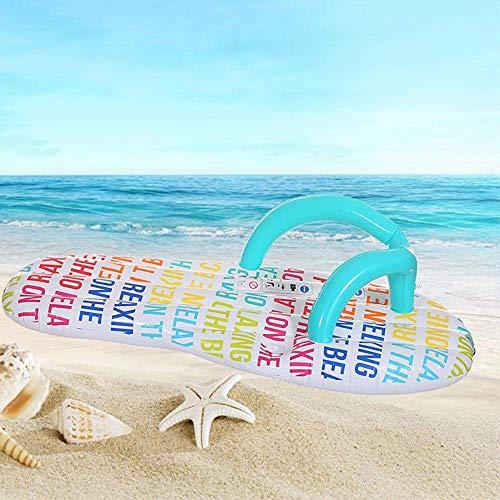 Pool Floats Inflatable/Free Damen Badebekleidung, aufblasbare Wasser-Schwebebett-Multi-Purpose Inflatable Hammock verdickte Briefe und Flip-Flops (Badeanzug Größe Optional) LOLDF1 (Size : Large)