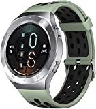 YLB Smart Watch Fitness Tracker con oxígeno de sangre Presión arterial Monitor de ritmo cardíaco SPO2 Control de música IP68 Abarca a prueba de agua Smart Watch Fitness para hombres mujeres para Andro