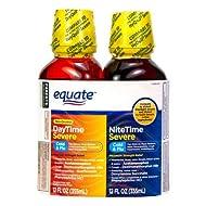 Evaxo Daytime & Nighttime Severe Cold & Flu Relief; Cold and Flu Medicine, 12 Fl Oz/Bottle .Pack of 3.