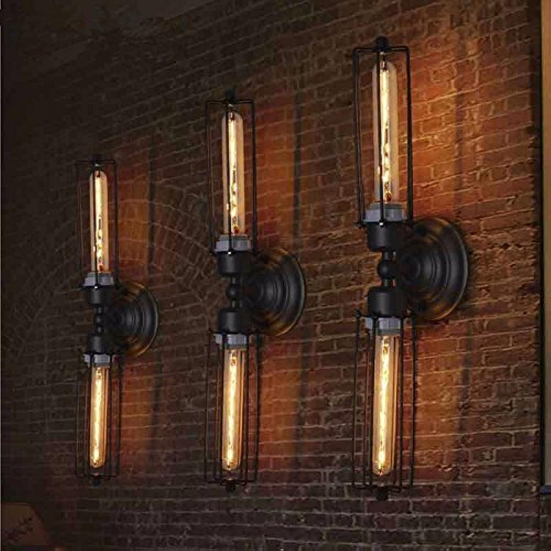 JJZHG Wandleuchte Wandlampe Wasserdicht Wandbeleuchtung Wandleuchte Gang Treppe Land Retro Langen Eisenrahmen Doppelkopf Wandleuchte Breite 12,5 cm Hhe 52 cm beinhaltet  Wandlampe