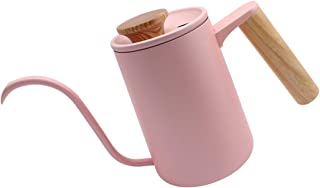 Dianoo Pour Over Coffee Kettle, Stainless Steel Coffee Pot, Tea Kettles, Gooseneck Spout For A Precision Pour With Wooden Handle Pink