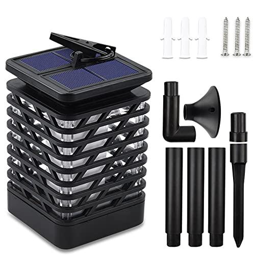 GMZS Luces solares al Aire Libre, con 12 Cuentas de lámparas LED, lámpara de Llama multifunción, para Patio al Aire Libre/balcón/Paisaje/etc,B