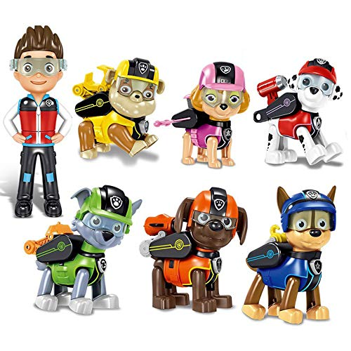 NamekPlanet - Lote de 7 Figuras transformables de la Patrulla Canina Juego - 8.5...