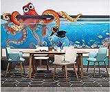 ZHEN WALLPAPER Papel Tapiz fotográfico 3D Mural Personalizado Acuario Pulpo Acuario TV Fondo Decoración del hogar Papel Tapiz de Sala de Estar para Paredes 3D*250cmx175cm(98.4x68.9inch)
