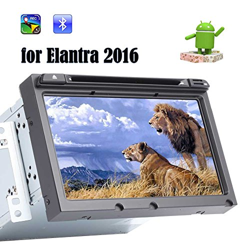 Best Car Stereo for Elantra 2016, EinCar 8¡± Android 7.1 Quad Core Double Din Car CD/DVD Player with GPS Navigation Radio Receiver Bluetooth WiFi ¨C Capacitive Touchscreen ¨C Support Backup Camera