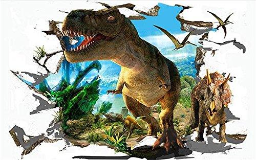 Yosot 3D Tapeten Individuelle Fototapete Wohnzimmer Wandbild Jura Dinosaurier 3D Malerei Sofa Tv Hintergrundbild Für Wände 3D-200Cmx140Cm