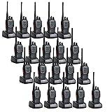 20 Pack Baofeng BF-888S 5W 1500mAh Handheld Walkie Talkie Black