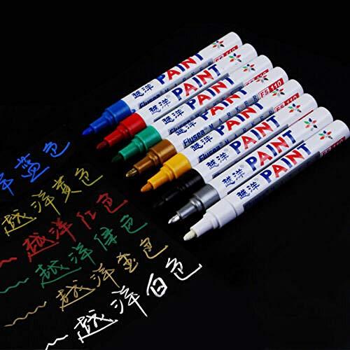 Colores del marcador de la pluma de pintura para el neumático del coches Neumático de goma de goma marcador permanente 12pcs