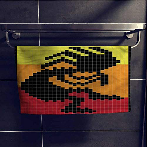alisoso Kokopelli Gift Towels Quick-Dry Towel 28x14 Inch Native American Figure