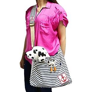 Ylen Portable Stripe Anchor Pet Dog Cat Puppy Travel Carrier Sling Shoulder Bag Backpack