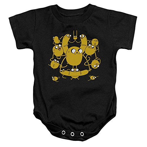 Adventure Time - - Enfant Jakes Onesie, 6 Months, Black