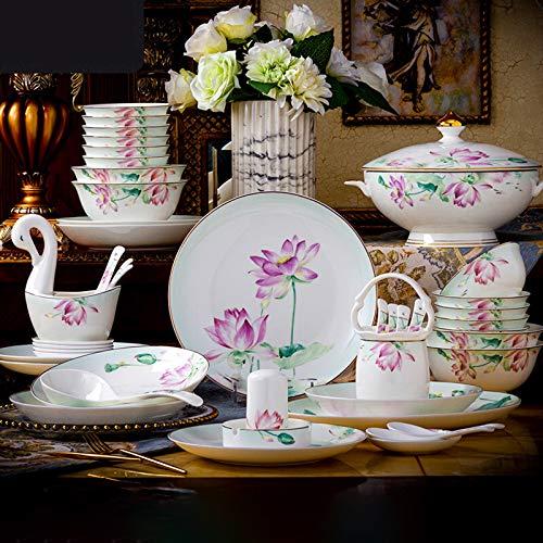 Juegos De Vajillas De Porcelana, sistema de la combinación del pote de sopa/placa/cuenco de porcelana   50 piezas de vajilla de porcelana de hueso de alta calidad